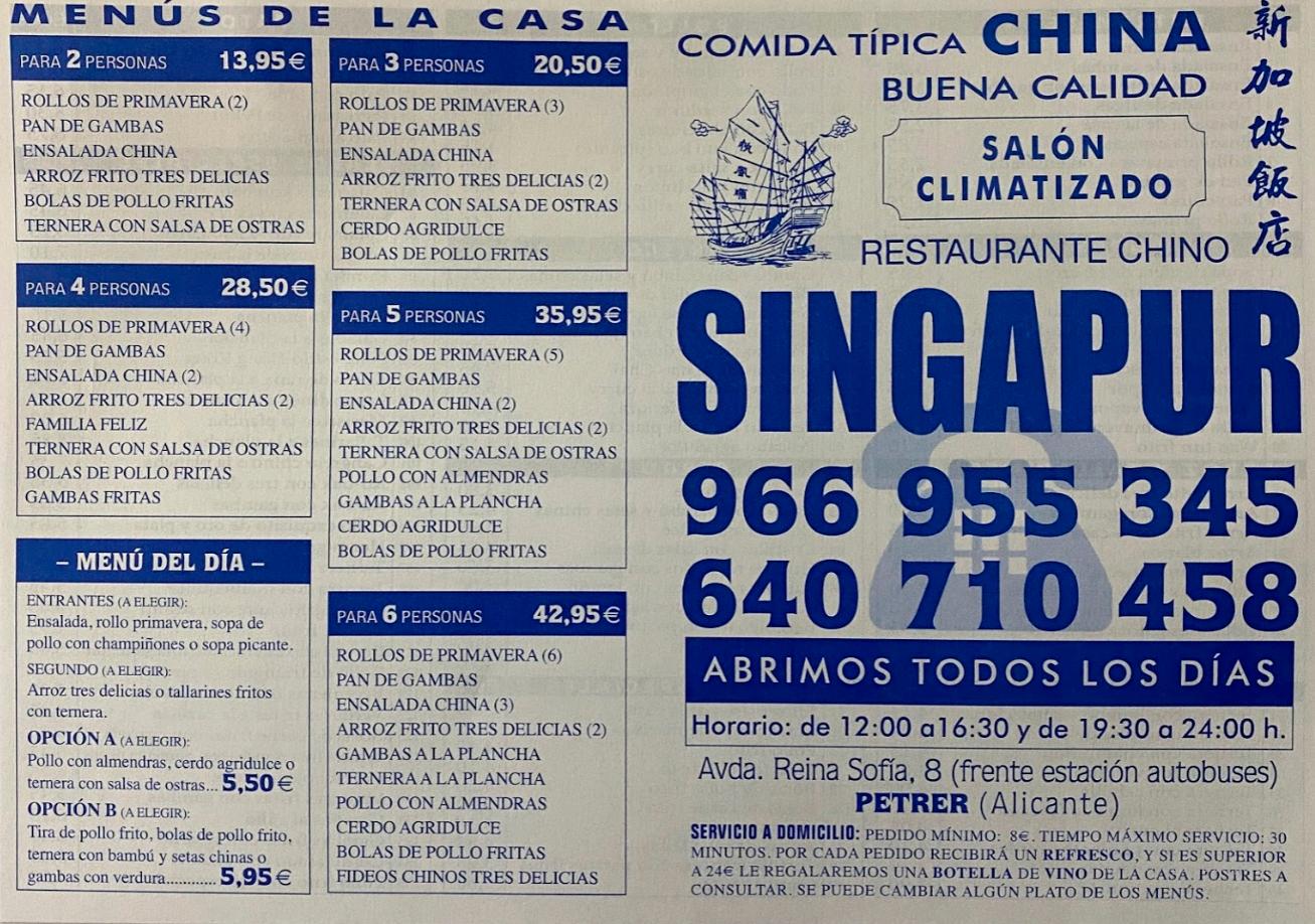Restaurante Chino Singapur
